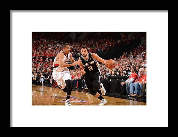 Playoffs Framed Print featuring the photograph Marco Belinelli by Garrett Ellwood