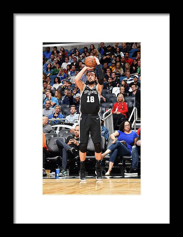 Nba Pro Basketball Framed Print featuring the photograph Marco Belinelli by Gary Bassing