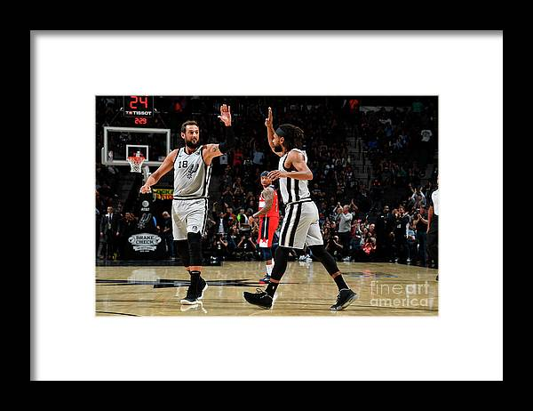 Nba Pro Basketball Framed Print featuring the photograph Marco Belinelli by Logan Riely