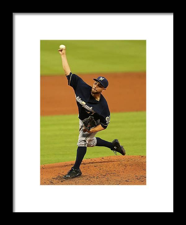 American League Baseball Framed Print featuring the photograph Marco Estrada by Mike Ehrmann
