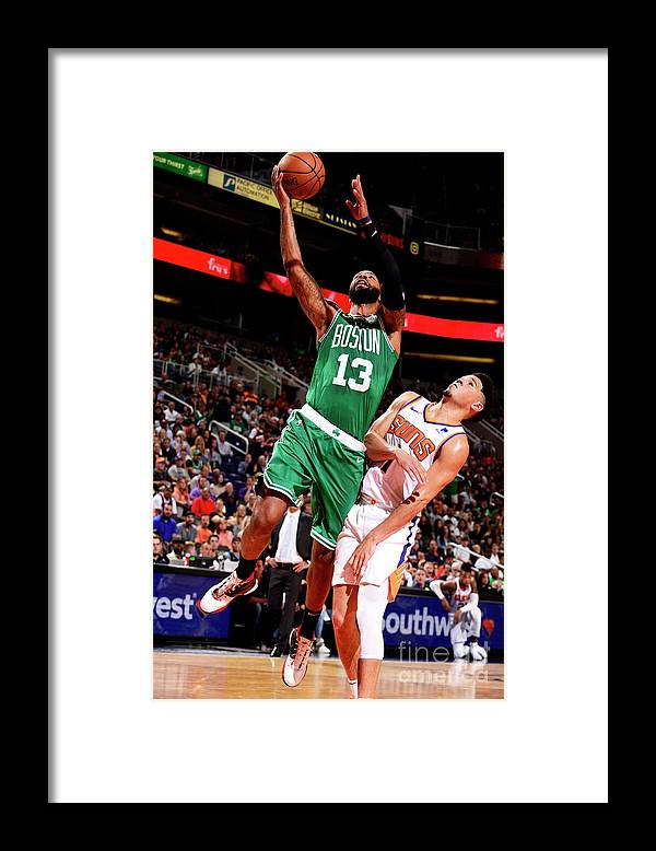 Nba Pro Basketball Framed Print featuring the photograph Marcus Morris by Barry Gossage