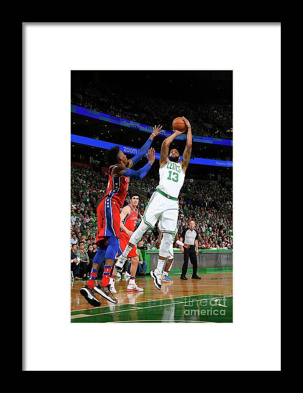 Playoffs Framed Print featuring the photograph Marcus Morris by Brian Babineau