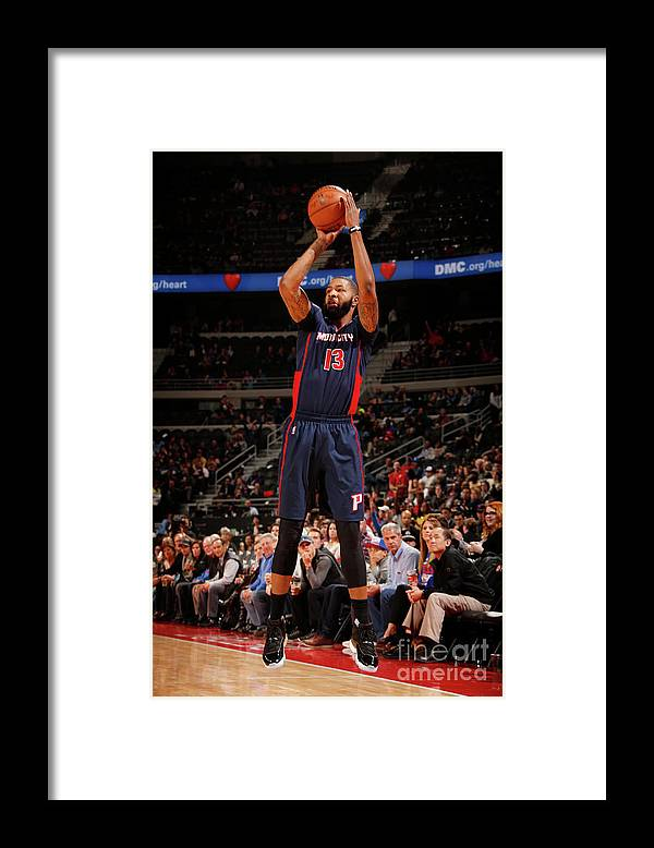 Nba Pro Basketball Framed Print featuring the photograph Marcus Morris by Brian Sevald