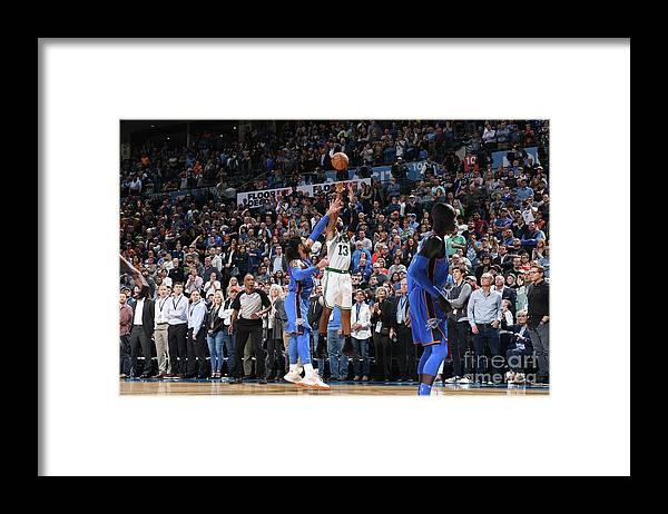 Nba Pro Basketball Framed Print featuring the photograph Marcus Morris by Garrett Ellwood