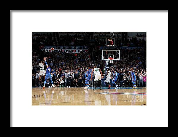Nba Pro Basketball Framed Print featuring the photograph Marcus Morris by Zach Beeker