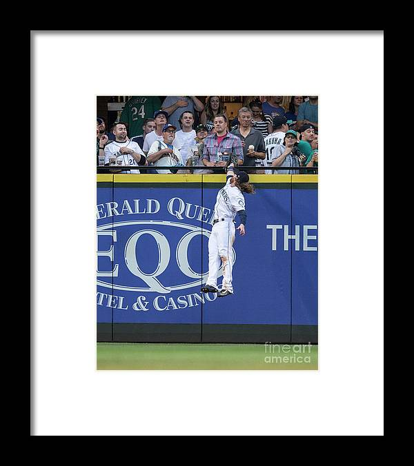 People Framed Print featuring the photograph Marcus Semien and Ben Gamel by Stephen Brashear