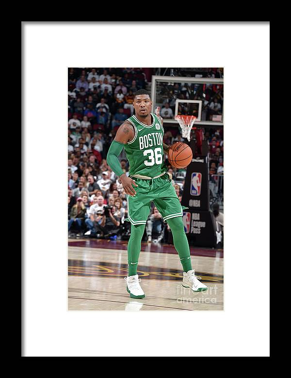 Nba Pro Basketball Framed Print featuring the photograph Marcus Smart by David Liam Kyle
