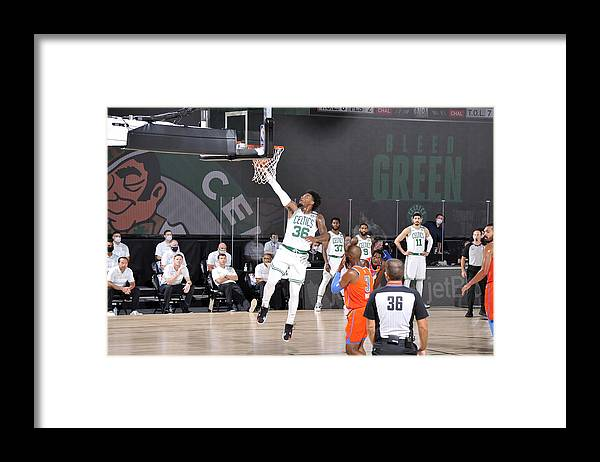 Nba Pro Basketball Framed Print featuring the photograph Marcus Smart by David Sherman