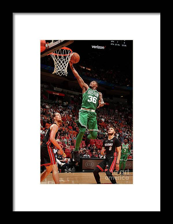 Nba Pro Basketball Framed Print featuring the photograph Marcus Smart by Issac Baldizon
