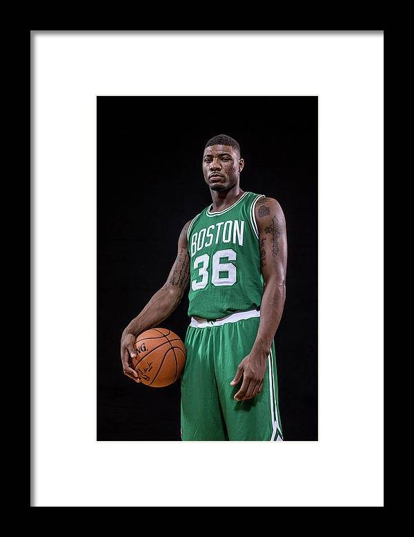 Nba Pro Basketball Framed Print featuring the photograph Marcus Smart by Nick Laham