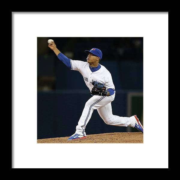 American League Baseball Framed Print featuring the photograph Marcus Stroman by Tom Szczerbowski