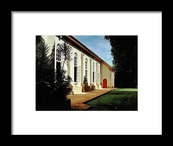 Maria Lanakila Framed Print featuring the photograph Maria Lanakila Church Exterior by Kirsten Giving