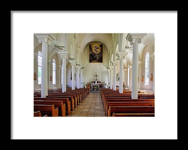 Lahaina Framed Print featuring the photograph Maria Lanakila Church Interior by Kirsten Giving