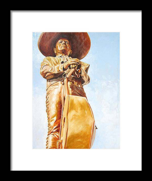 Mariachi Framed Print featuring the painting Mariachi by Laura Pierre-Louis