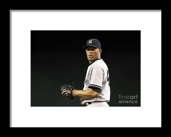 American League Baseball Framed Print featuring the photograph Mariano Rivera by Christian Petersen