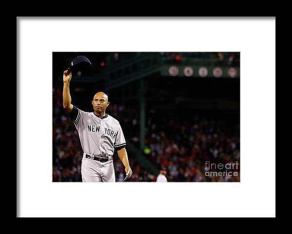 Crowd Framed Print featuring the photograph Mariano Rivera by Jared Wickerham