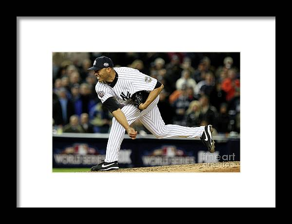 American League Baseball Framed Print featuring the photograph Mariano Rivera by Jed Jacobsohn