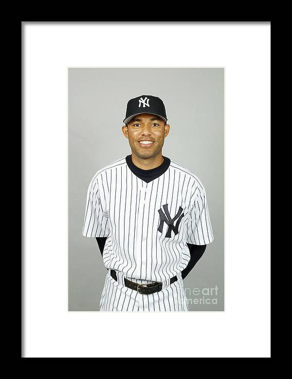 Media Day Framed Print featuring the photograph Mariano Rivera by Mlb Photos