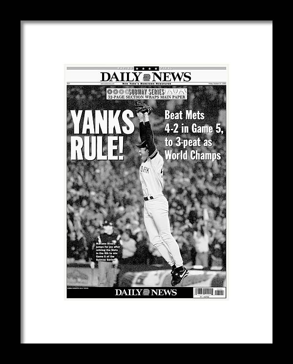 American League Baseball Framed Print featuring the photograph Mariano Rivera by New York Daily News Archive