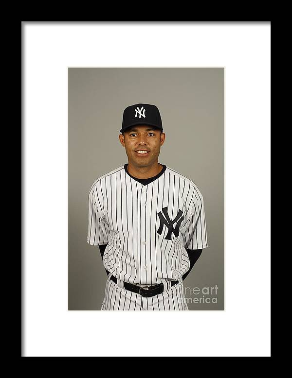 Media Day Framed Print featuring the photograph Mariano Rivera by Robert Rogers
