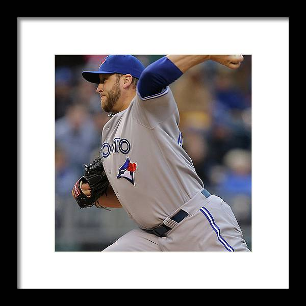 American League Baseball Framed Print featuring the photograph Mark Buehrle by Ed Zurga