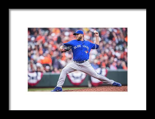 American League Baseball Framed Print featuring the photograph Mark Buehrle by Rob Tringali