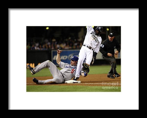 Tony Gwynn Jr. Framed Print featuring the photograph Mark Loretta by Donald Miralle