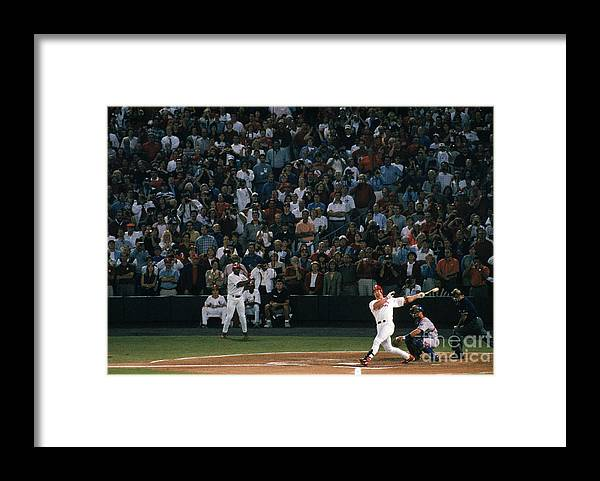 Season Framed Print featuring the photograph Mark Mcgwire and Roger Maris by Bill Stover