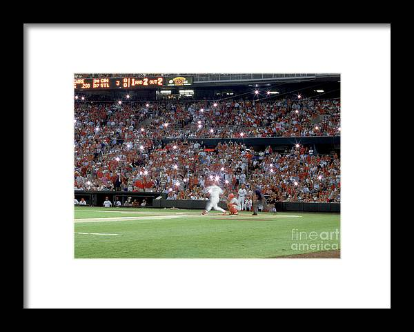 St. Louis Cardinals Framed Print featuring the photograph Mark Mcgwire by Rich Pilling