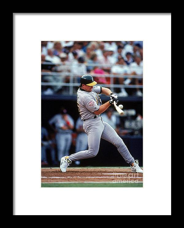 All Star Game Framed Print featuring the photograph Mark Mcgwire by Ron Vesely