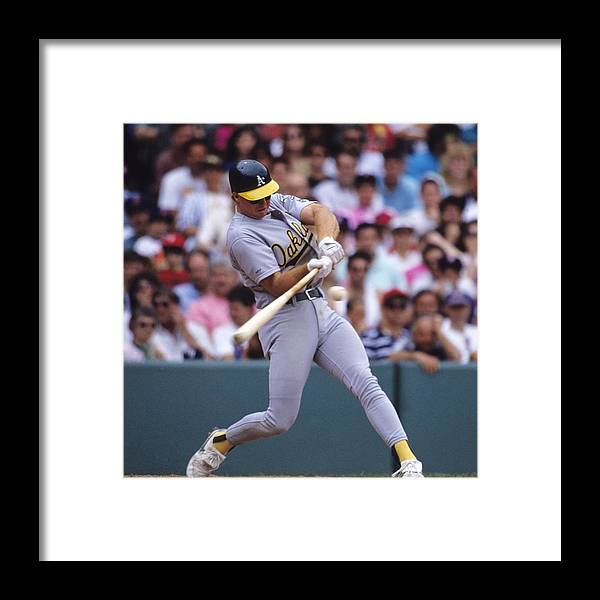 National League Baseball Framed Print featuring the photograph Mark Mcgwire by Ronald C. Modra/sports Imagery