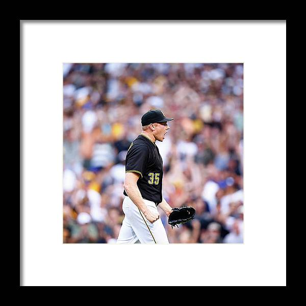Following Framed Print featuring the photograph Mark Melancon by Jared Wickerham