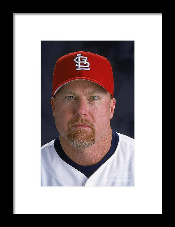 St. Louis Cardinals Framed Print featuring the photograph Mark Rogers by Andy Lyons