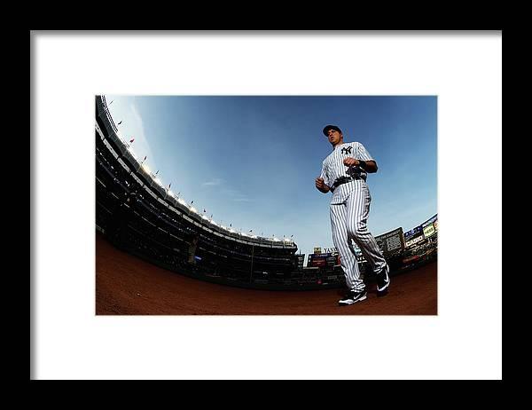 American League Baseball Framed Print featuring the photograph Mark Teixeira by Al Bello