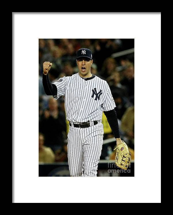 Game Two Framed Print featuring the photograph Mark Teixeira by Chris Mcgrath