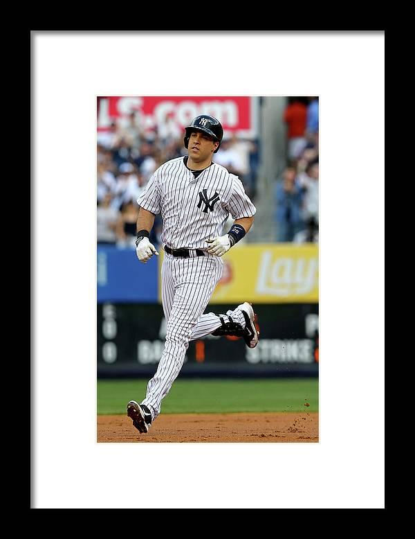 American League Baseball Framed Print featuring the photograph Mark Teixeira by Elsa