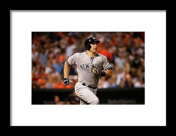 Following Framed Print featuring the photograph Mark Teixeira by Rob Carr
