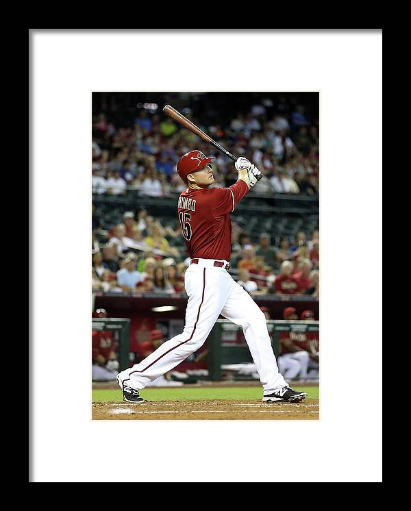 National League Baseball Framed Print featuring the photograph Mark Trumbo by Christian Petersen