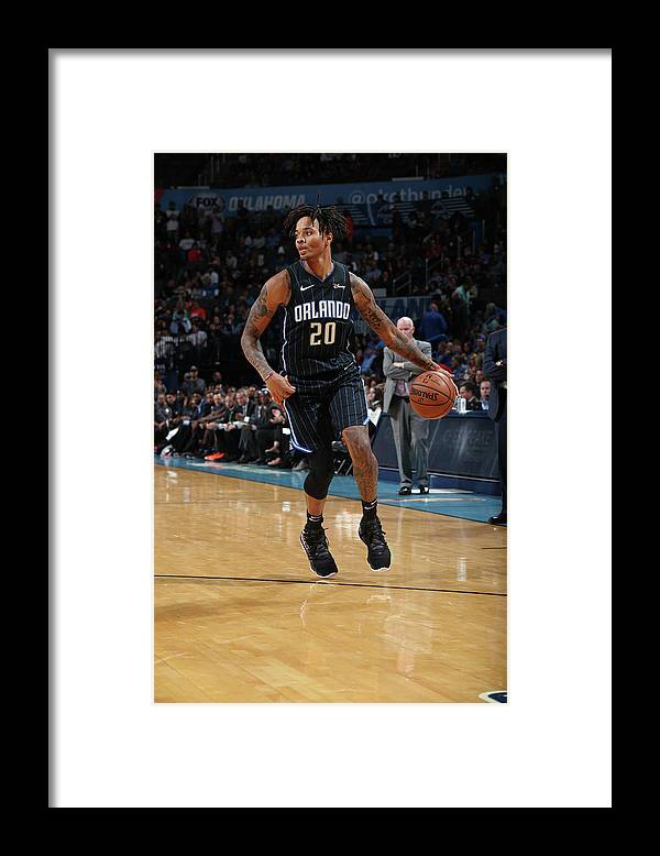 Nba Pro Basketball Framed Print featuring the photograph Markelle Fultz by Zach Beeker