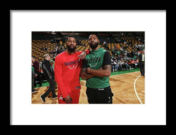 Nba Pro Basketball Framed Print featuring the photograph Markieff Morris and Marcus Morris by Ned Dishman