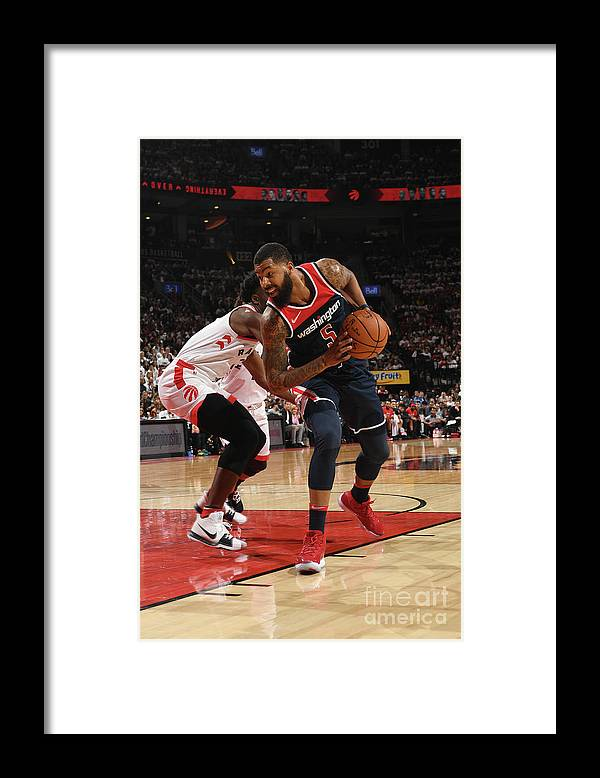 Playoffs Framed Print featuring the photograph Markieff Morris by Ron Turenne