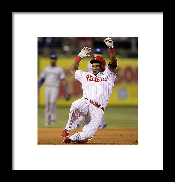 Marlon Byrd Framed Print featuring the photograph Marlon Byrd by Mitchell Leff