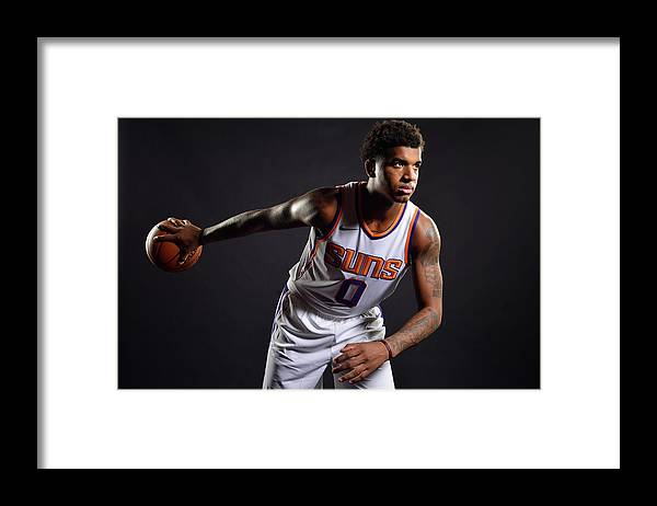 Nba Pro Basketball Framed Print featuring the photograph Marquese Chriss by Barry Gossage