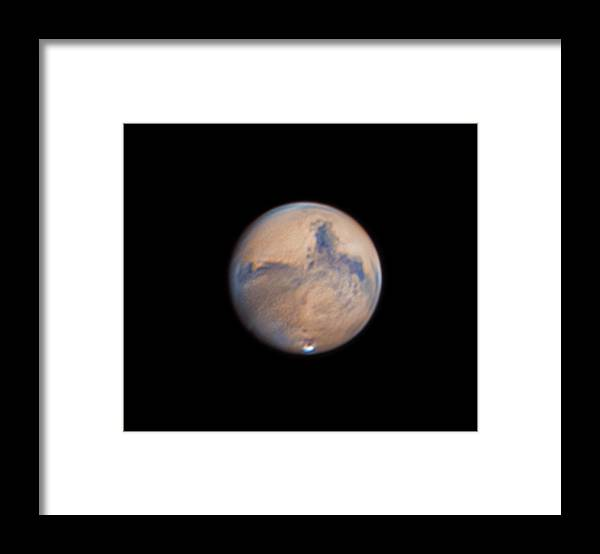 Mars Framed Print featuring the photograph Mars from 31st October 2020 by Prabhu Astrophotography