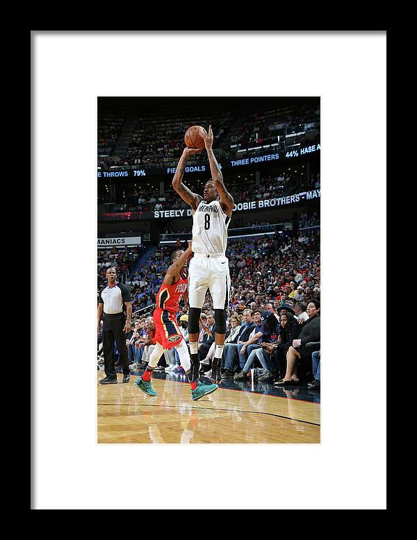Smoothie King Center Framed Print featuring the photograph Marshon Brooks by Layne Murdoch Jr.
