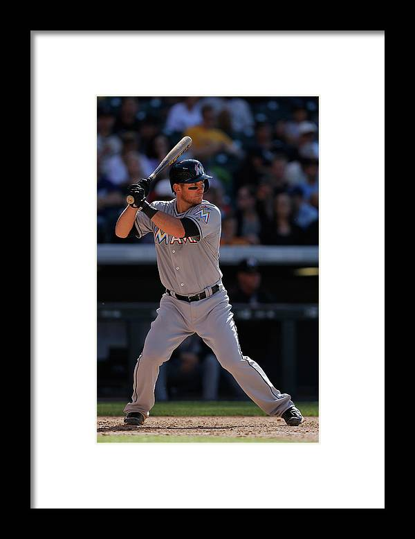 People Framed Print featuring the photograph Martin Prado by Doug Pensinger