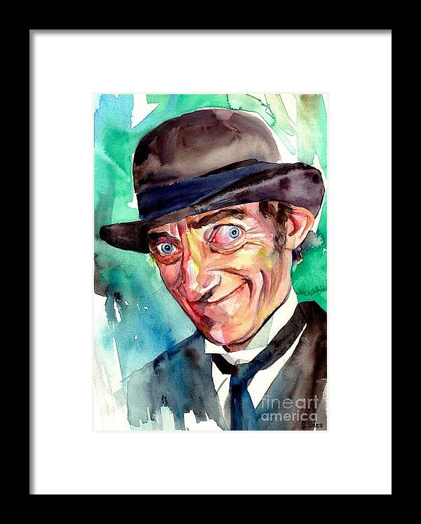 Marty Feldman Framed Print featuring the painting Marty Feldman Portrait by Suzann Sines