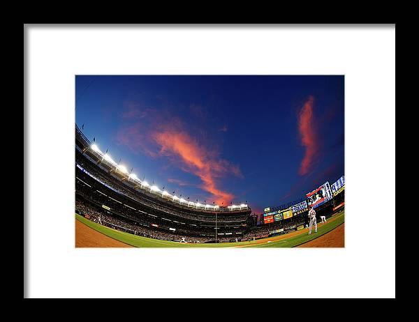 American League Baseball Framed Print featuring the photograph Masahiro Tanaka and Daniel Nava by Rich Schultz