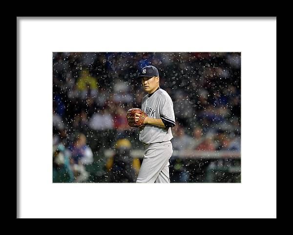 American League Baseball Framed Print featuring the photograph Masahiro Tanaka by Brian Kersey