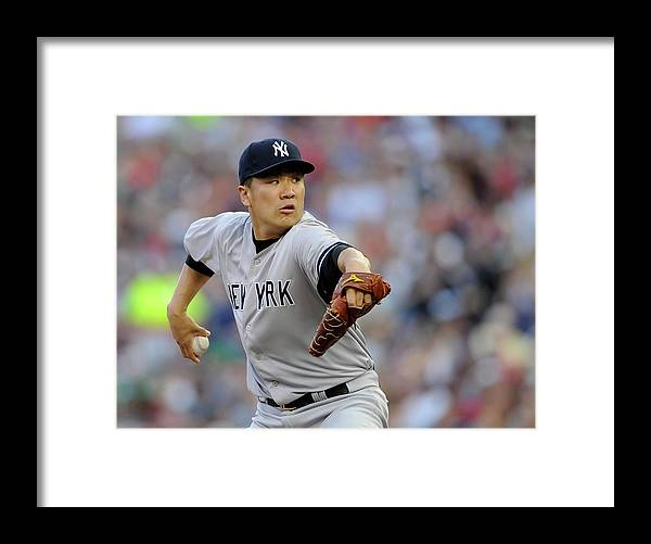 Second Inning Framed Print featuring the photograph Masahiro Tanaka by Hannah Foslien